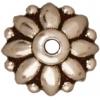Bead Cap Dharma 10mm Antique Silver